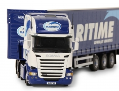 Tekno Model Scania Truck with Curtainsider